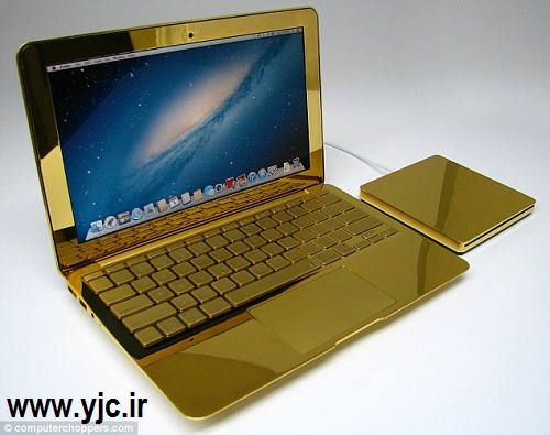 لپ تاپی از طلای 24 عیار از اپل!! + عکس