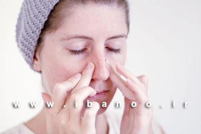 مرحله هشتم ماساژ صورت برای کاهش روند پیری و از بین بردن چین و چروک صورت,آموزش تصویری ماساژ صورت برای کاهش روند پیری و چین و چروک پوست