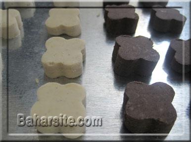 شیرینی,شیرینی بهشتی,نوروز,شیرینی خانگی برای نوروز,طرز تهیه شرینی خانگی برای نوروز,مرحله ششم تهیه شیرینی بهشتی برای نوروز