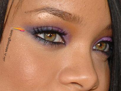 آرایش چشم با سایه رنگی