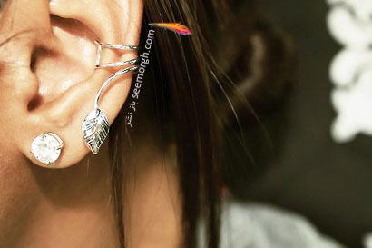 عکس مدل گوشواره های زیبا و شیک سه تایی دو تایی