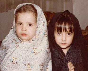 عکسی جالب از کودکی مهراوه و ملیکا شریفی*نیا