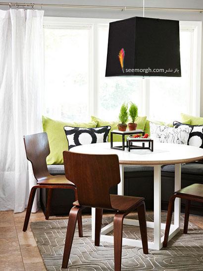 طرح رنگی دعوت کننده: رنگ ذغال سنگ + سبز سیبی,چیدمانی زیبا با رنگ خاکستری,دکوراسیون داخلی با رنگ خاکستری,