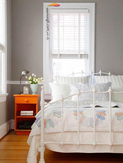 طرح رنگی فوق العاده: خاکستری گرم+ نارنجی,چیدمانی زیبا با رنگ خاکستری,دکوراسیون داخلی با رنگ خاکستری,
