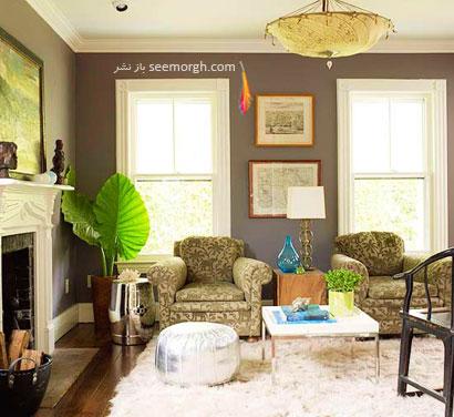 طرح رنگی هوشمندانه: رنگ مفرغ+ رنگ زیتونی,چیدمانی زیبا با رنگ خاکستری,دکوراسیون داخلی با رنگ خاکستری,