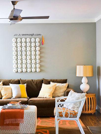طرح رنگی فوری: خاکستری سربی+ قهوه ای روشن+ نارنجی+ زرد,چیدمانی زیبا با رنگ خاکستری,دکوراسیون داخلی با رنگ خاکستری,