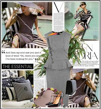 ست کردن لباس به سبک Victoria Beckham