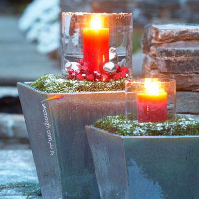 گلدان های شمعدانی برای کریسمس