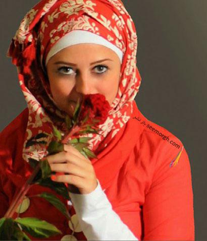 عکس مدل بستن شال و روسری
