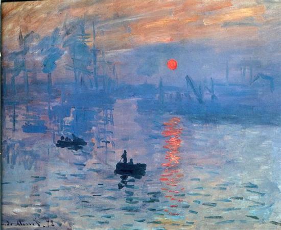 دریافتی از طلوع آفتاب (Impression soleil levant) اثر کلودمونه ۱۸۷۲