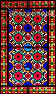 ارسی و شیشه های رنگی