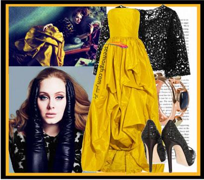 ست کردن لباس شب برای خانم های چاق به سبک Adele