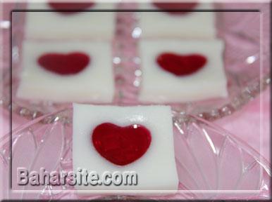 طرز تهیه ژله قلب شیشه ای
