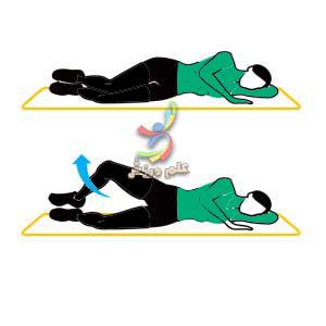 تمرینات ورزشی تصویر متحرک-شکم،پهلو،ران،باسن