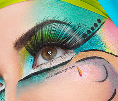 مدل ارایش چشم فشن و عجیب عکس نقاشی روی چشم