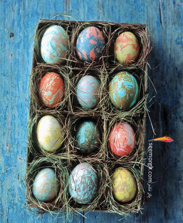 تزیین تخم مرغ,تخم مرغ هفت سین,تزیین تخم مرغ هفت سین,تزیین تخم مرغ سفره هفت سین,تزیین تخم مرغ سفره هفت سین با آبرنگ