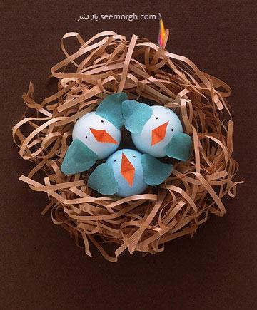 تزیین تخم مرغ,تخم مرغ هفت سین,تزیین تخم مرغ هفت سین,تزیین تخم مرغ سفره هفت سین,تزیین تخم مرغ سفره هفت سین به شکل جوجه