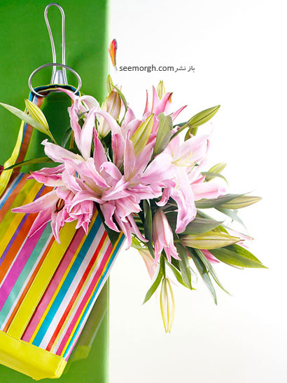 یک دسته گل زیبا برای تبریک روز مادر