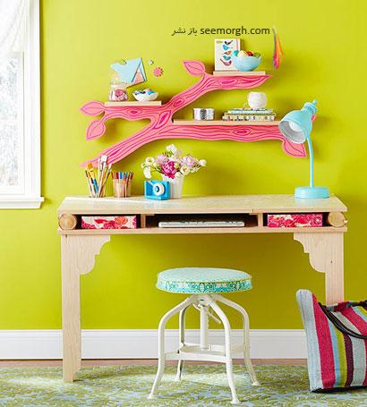 قفسه های شاخه ای,با شابلون های رنگی دکوراسیون تان را بهاری کنید