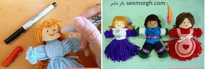 مرحله ششم درست کردن عروسک بافتنی بدون بافتن,آموزش تصویری درست کردن عروسک بافتنی بدون بافتن