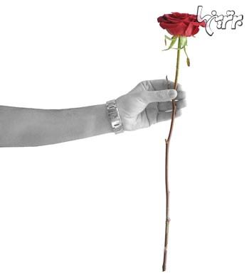 هدیه دادن,گل,هدیه دادن گل,آداب هدیه دادن گل را بیاموزید,گرفتن گل با نوک انگشت برای هدیه دادن