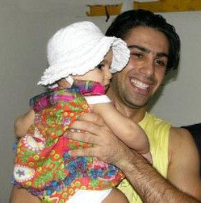 عکس فرهاد مجیدی و دخترش