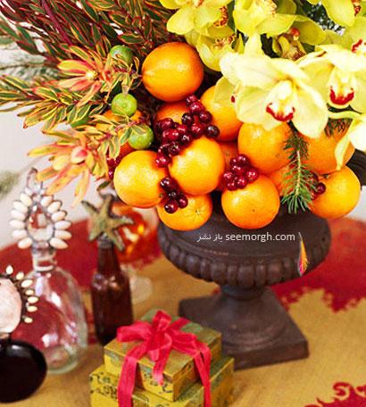 تزیین میز شب یلدا با میوه - شماره 1