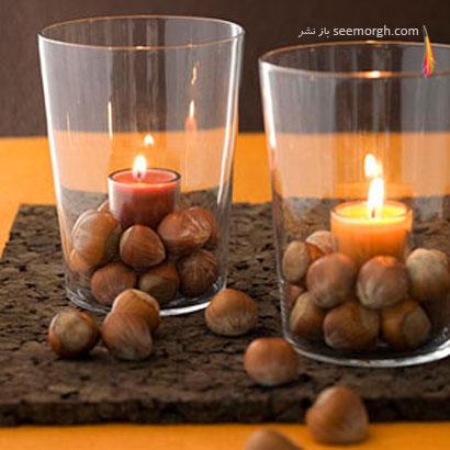 یوه بلوط شمع های شب یلدای تان را تزیین کنید