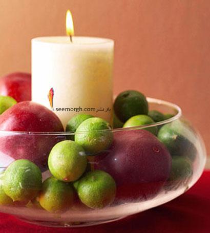 از شمع ها برای تزیین شب یلدا استفاده کنید