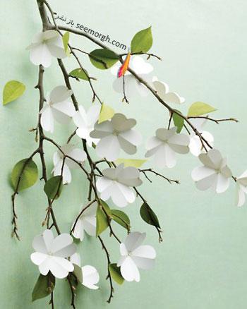 گلهای كاغذی درخت زغال اخته