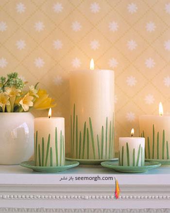 شمع هایی در چمن