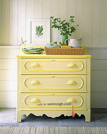 تغییر دكور با استفاده از رنگ زرد