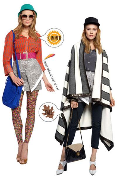 ست کردن لباس از نوع تابستانی به مدل پاییزی