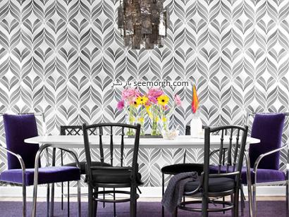 نحوه تزیین دیوار با كاغذ دیواریهای گلدار