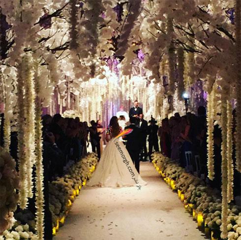 مسیر ورودی سوفیا ورگارا Sofia Vergara در مراسم عروسی