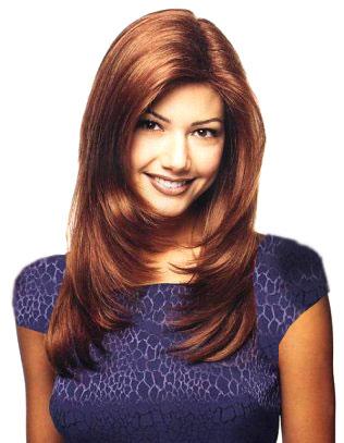 """Женская причёска для длинных волос  """"Лесенка """" ."""