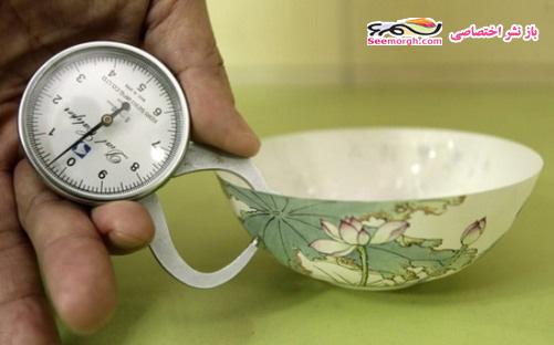 ساخت باورنکردنی چینی نازک به نازکی برگ کاغذ! + عکس