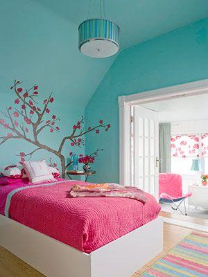 دکوراسیون اتاق خواب با طراحی با طراوت,دکوراسیون اتاق خواب با ایده هایی جالب و چشم نواز مخصوص سنین 7 تا 15 سال,دکوراسیون اتاق خواب مخصوص سنین 7 تا 15 سال