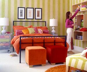 دکوراسیون اتاق خواب با رنگ های تند و زیبا,دکوراسیون اتاق خواب با ایده هایی جالب و چشم نواز مخصوص سنین 7 تا 15 سال,دکوراسیون اتاق خواب مخصوص سنین 7 تا 15 سال
