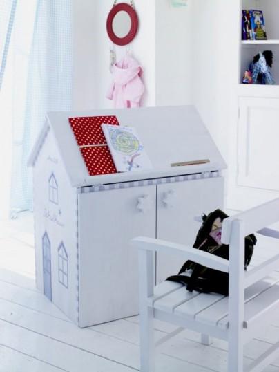 میز تحریر کودک به شکل کلبه,مدلهای جدید میز تحریر و کمد برای کودکان!