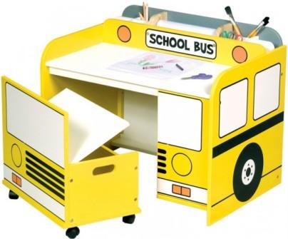میز تحریر کودک به شکل اتوبوس,مدلهای جدید میز تحریر و کمد برای کودکان!
