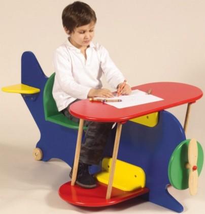 میز تحریر کودک به شکل هواپیما,مدلهای جدید میز تحریر و کمد برای کودکان!