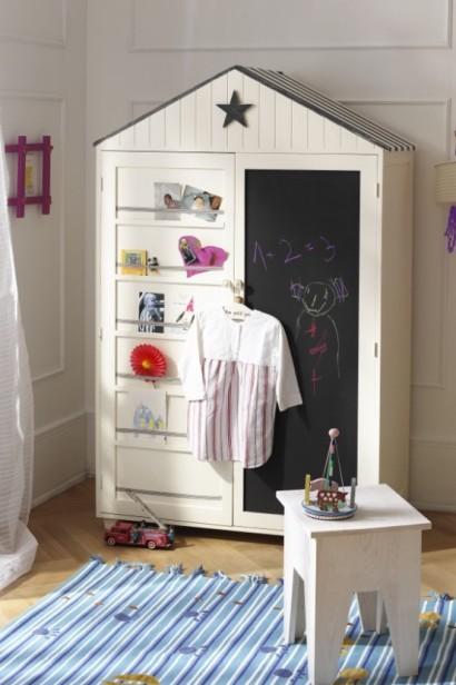 کمد کودک با طرح تخته سیاه,کمدهای زیبا و کودکانه,مدلهای جدید میز تحریر و کمد برای کودکان!
