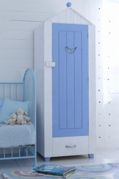 کمد کودک سفید و آبی,کمدهای زیبا و کودکانه,مدلهای جدید میز تحریر و کمد برای کودکان!