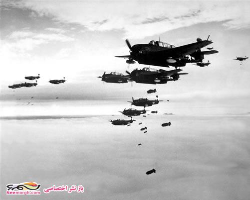 عکس بمباران هوایی در جنگ جهانی دوم