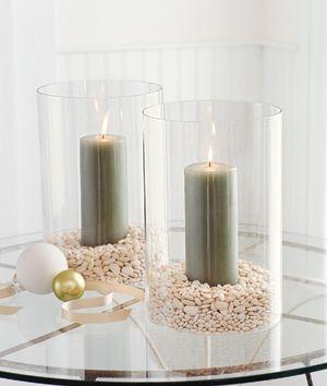 تزئین شمعدان یا گلدان های شیشه ای با لوبیا,تزیین منزل با وسایل موجود در آشپزخانه,ایده هایی برای تزیین خانه با وسایل موجود در آشپزخانه