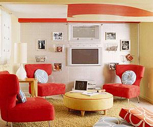 نگه داری وسایل با نصب لوازم صوتی و تصویری روی دیوار