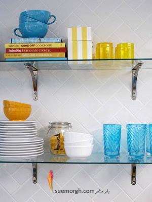 آجرها و کاشی های یک رنگ,بازسازی دکوراسیون یک آشپزخانه کوچک با ایده هایی جذاب و نو!!