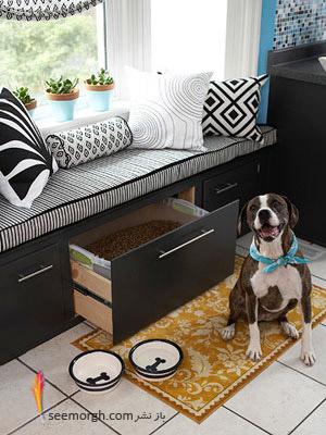 جایی برای غذای حیوانات,بازسازی دکوراسیون یک آشپزخانه کوچک با ایده هایی جذاب و نو!!