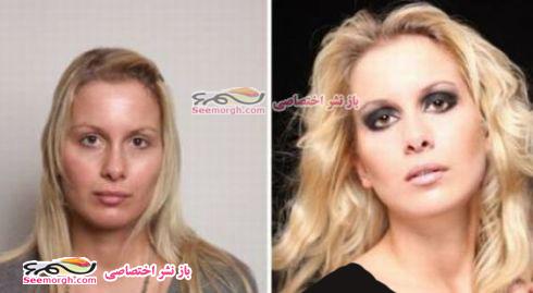 معجره آرایش برروی صورت زنان 2